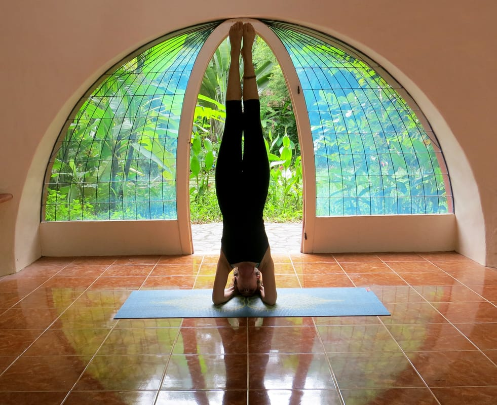 Yoga Space in Air Crete Dome Home