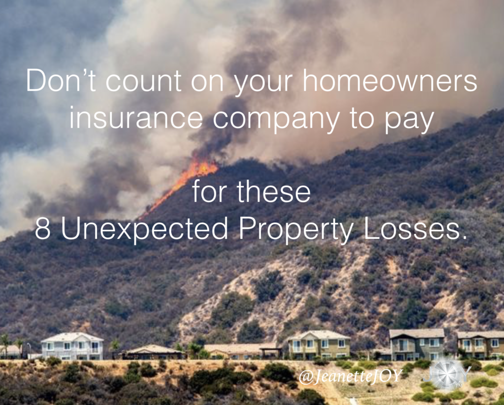 8 losses homeowners insurance doesn't cover